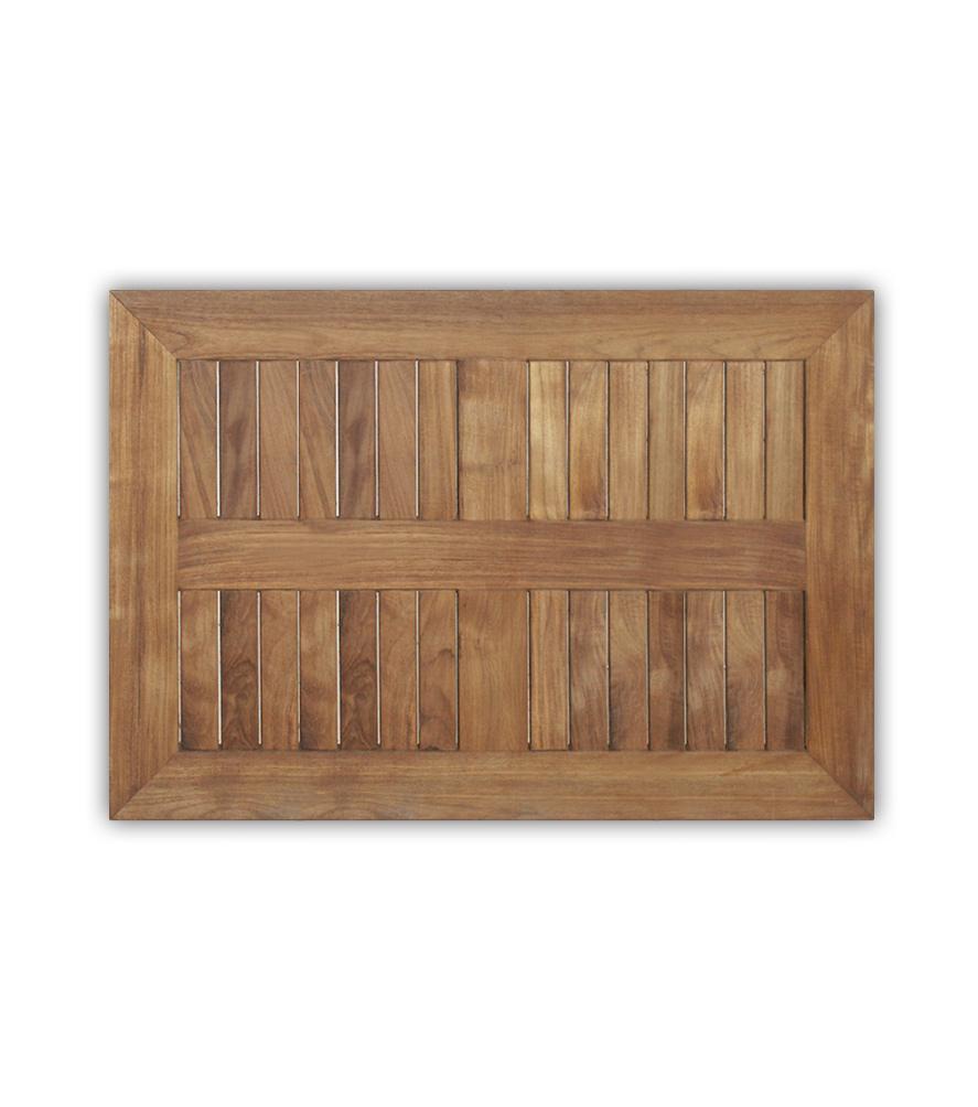 Tischplatte Teak rechteckig, 120x80 cm