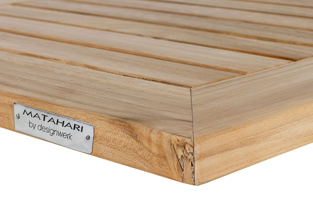 Tischplatte Teak eckig, 70x70 cm