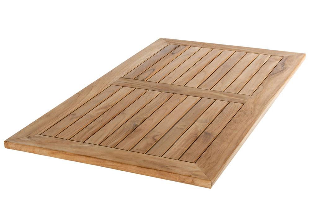 Tischplatte Teak eckig, 140x80 cm