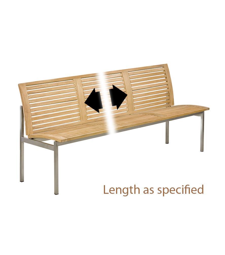 Bank Centauri ohne Armlehne 120 cm