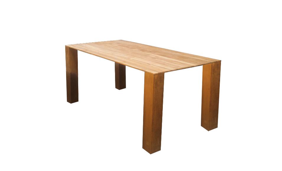 Tisch Misoo Keilform 4 Fuß 220x100 cm