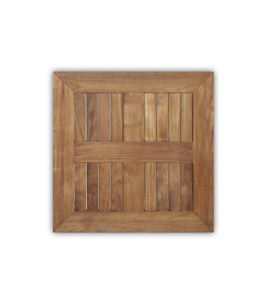 Tischplatte Teak eckig, 60x60 cm