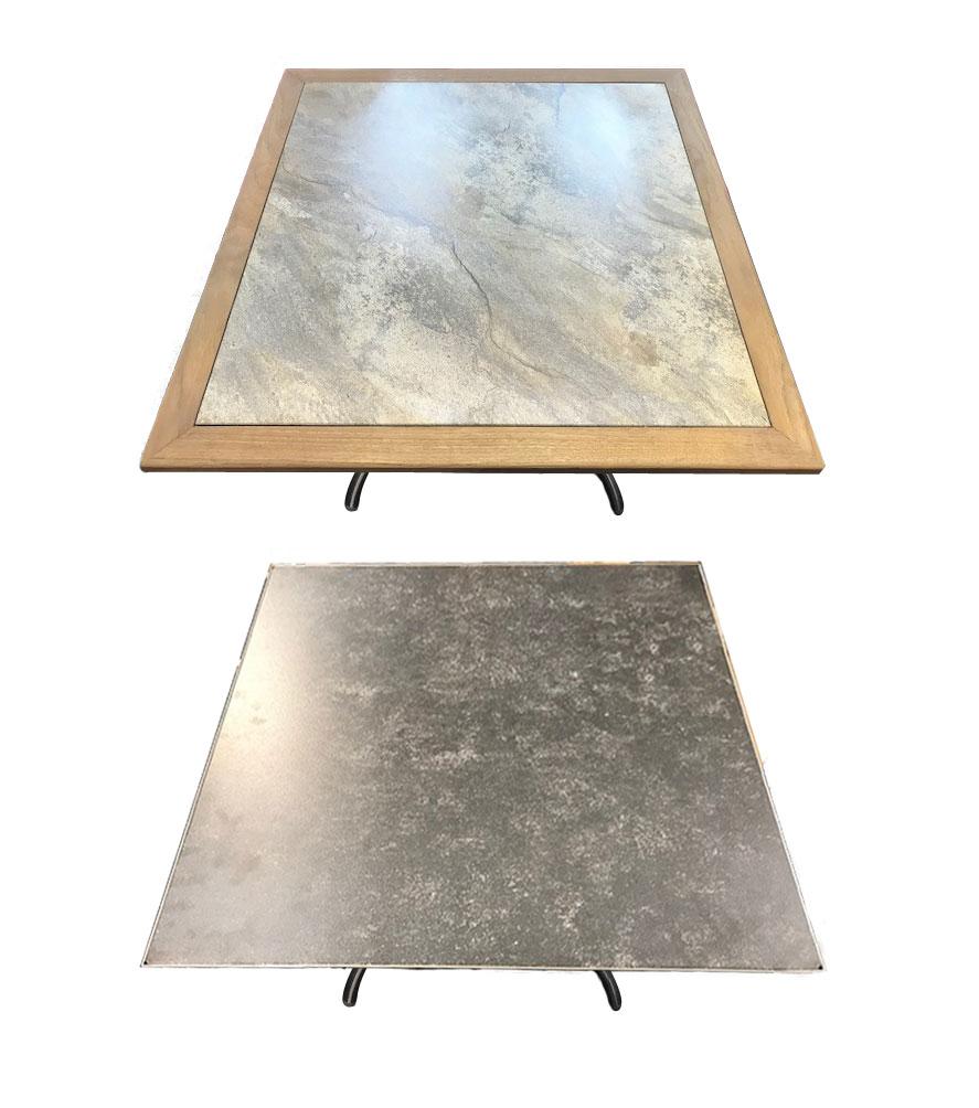 Tischplatte Glaskeramik, 90x90 cm